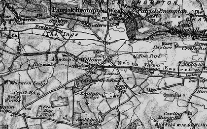 Old map of Aysgarth School in 1897