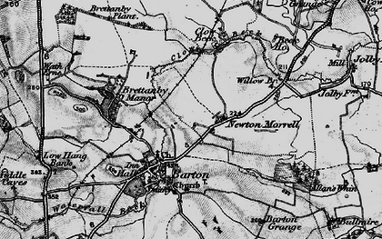 Old map of Willow Br in 1897