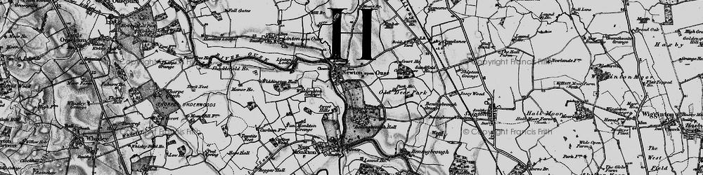 Old map of Widdington Grange in 1898