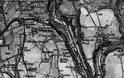Old map of Yorfalls Wood in 1898