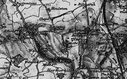 Old map of Balderton Hall in 1899
