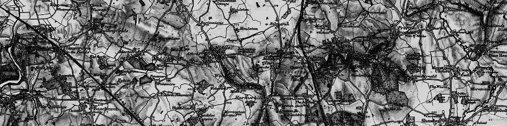 Old map of Witterage, The in 1899