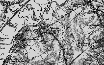 Old map of Newton Solney in 1898