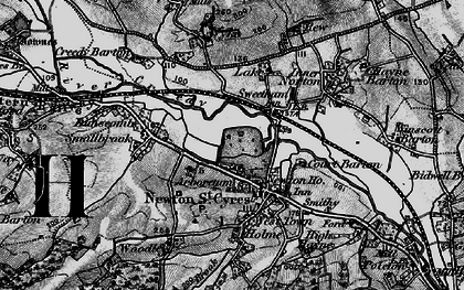 Old map of Newton St Cyres in 1898