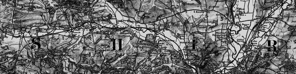 Old map of Wyke in 1898