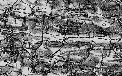 Old map of Alscott Barton in 1898