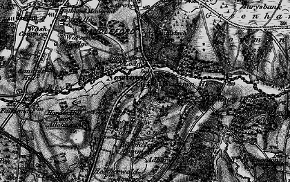Old map of Adbury Ho in 1895