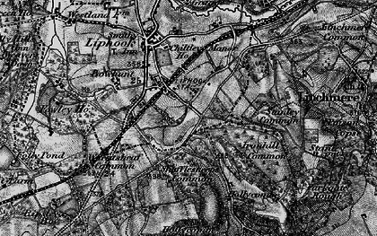 Old map of Wheatsheaf Common in 1895