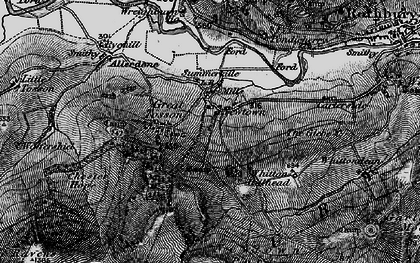 Old map of Whitton Hillhead in 1897