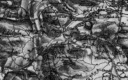 Old map of Badger's Croft in 1897