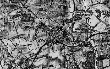 Old map of Westcott in 1898
