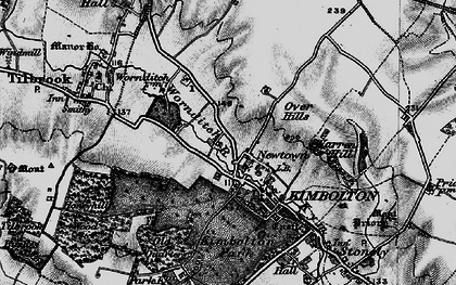 Old map of Newtown in 1898