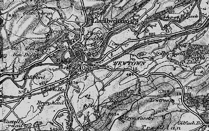 Old map of Newtown in 1899