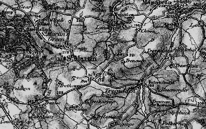 Old map of Withan in 1895