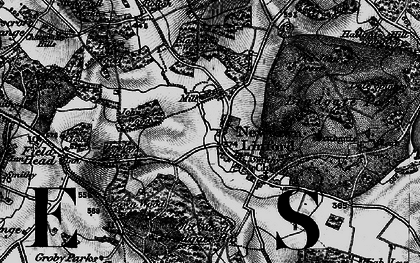 Old map of Lea Wood in 1899