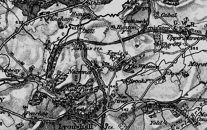 Old map of Lewis Wych in 1899