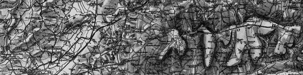 Old map of Windwhistle in 1898