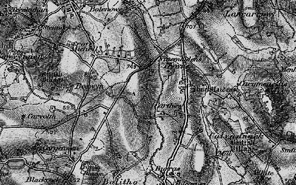 Old map of Nine Maidens Downs in 1896