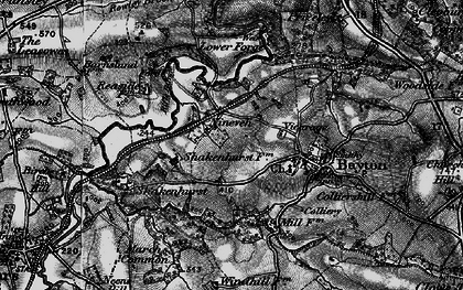 Old map of Wissett's Wood in 1899