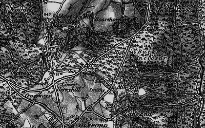 Old map of Wimberry Slade in 1896