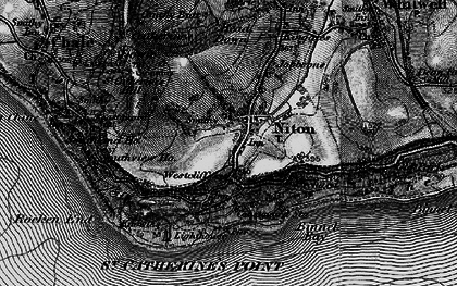 Old map of Niton in 1895