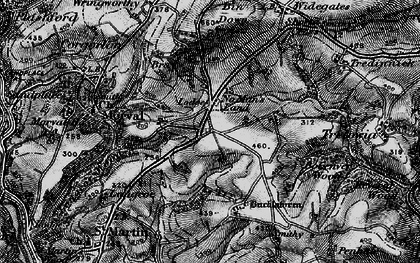 Old map of No Man's Land in 1896