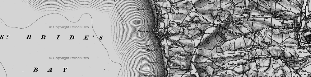 Old map of Nolton Haven in 1898