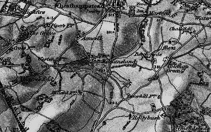 Old map of Nomansland in 1896