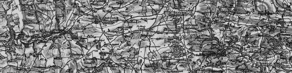 Old map of Woodscombe in 1898