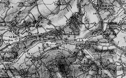 Old map of Noonvares in 1895