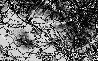 Old map of Norbury in 1895