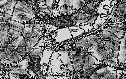 Old map of Norbury in 1897