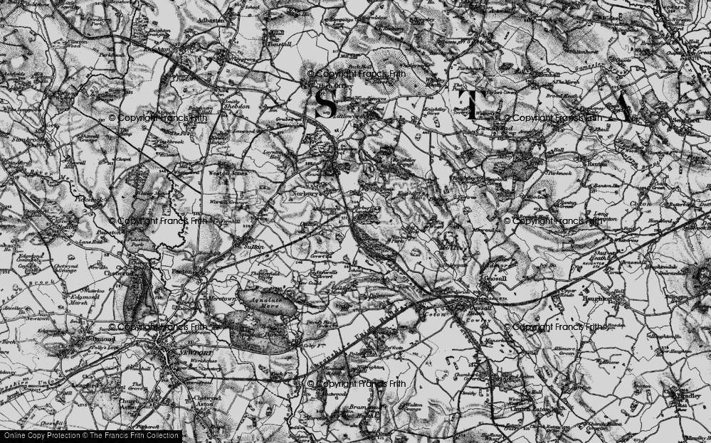 Old Map of Norbury Junction, 1897 in 1897