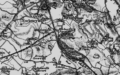 Old map of Norbury Junction in 1897