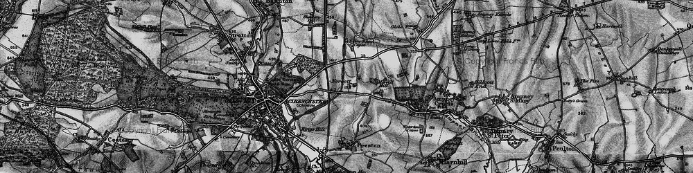 Old map of Yellow School Copse in 1896