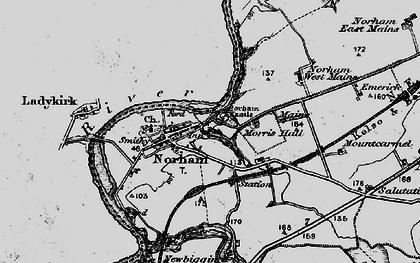 Old map of West Newbiggin in 1897