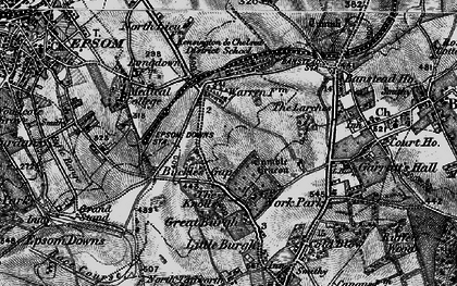 Old map of Nork in 1896
