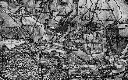 Old map of Norley in 1896