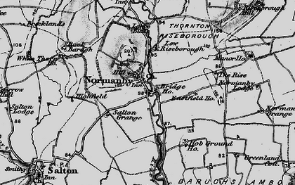 Old map of Riseborough Hall in 1898