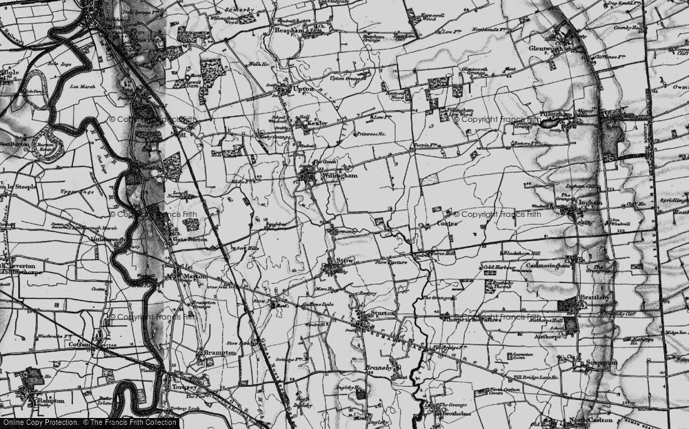 Old Map of Normanby by Stow, 1899 in 1899
