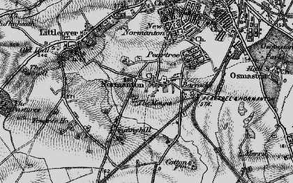 Old map of Normanton in 1895