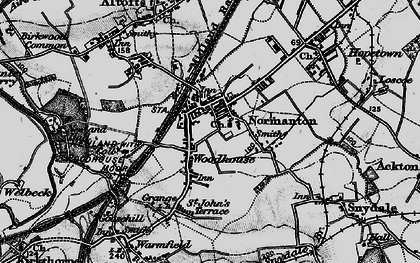 Old map of Normanton in 1896