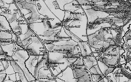 Old map of North Beer in 1895