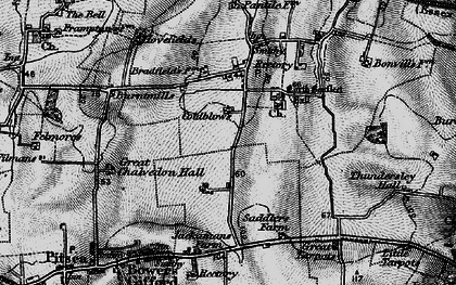 Old map of North Benfleet in 1896