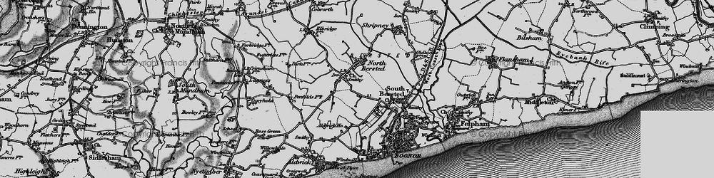 Old map of Aldingbourne Rife in 1895