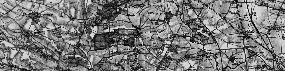 Old map of Willow Holt in 1899