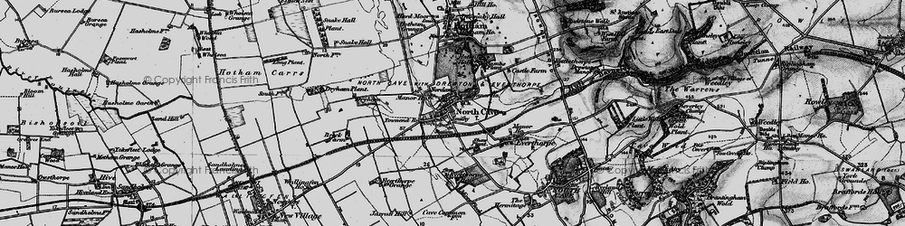 Old map of North Cave in 1895