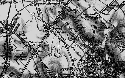 Old map of North Cheam in 1896