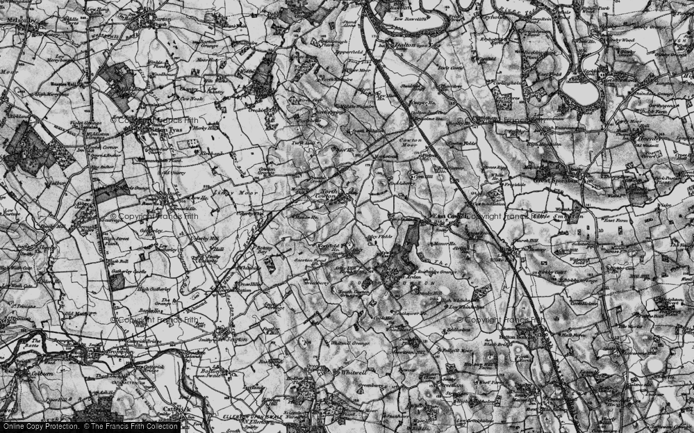 Old Map of Historic Map covering Atley Hill in 1897