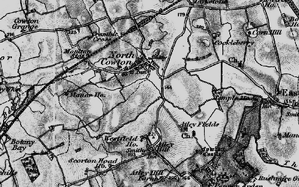Old map of Atley Hill in 1897